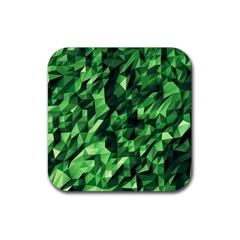 Green Attack Rubber Square Coaster (4 pack)