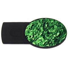 Green Attack Usb Flash Drive Oval (2 Gb)