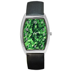Green Attack Barrel Style Metal Watch