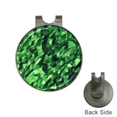 Green Attack Hat Clips with Golf Markers