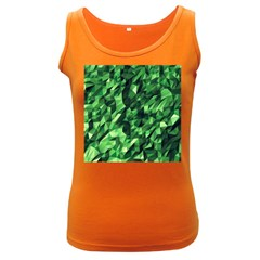 Green Attack Women s Dark Tank Top