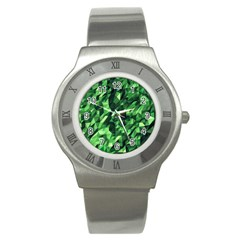 Green Attack Stainless Steel Watch