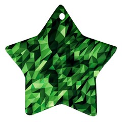 Green Attack Star Ornament (two Sides)
