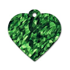 Green Attack Dog Tag Heart (two Sides)