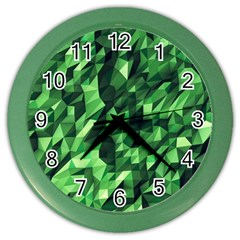 Green Attack Color Wall Clocks