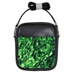 Green Attack Girls Sling Bags