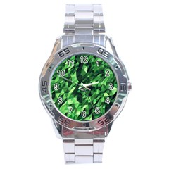 Green Attack Stainless Steel Analogue Watch