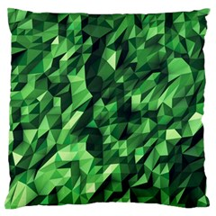 Green Attack Large Flano Cushion Case (two Sides)