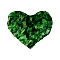 Green Attack Standard 16  Premium Flano Heart Shape Cushions