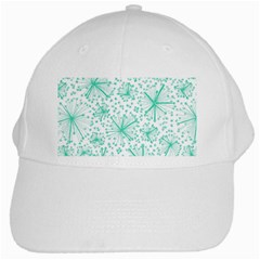 Pattern Floralgreen White Cap