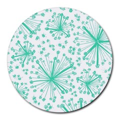 Pattern Floralgreen Round Mousepads