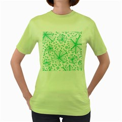 Pattern Floralgreen Women s Green T-Shirt