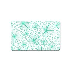 Pattern Floralgreen Magnet (name Card)
