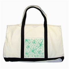 Pattern Floralgreen Two Tone Tote Bag