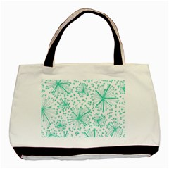 Pattern Floralgreen Basic Tote Bag (two Sides)