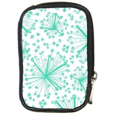 Pattern Floralgreen Compact Camera Cases