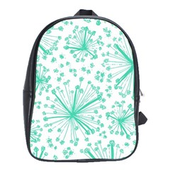 Pattern Floralgreen School Bags(Large)