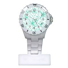 Pattern Floralgreen Plastic Nurses Watch