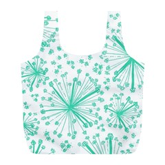 Pattern Floralgreen Full Print Recycle Bags (l)