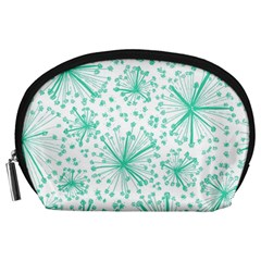 Pattern Floralgreen Accessory Pouches (Large)
