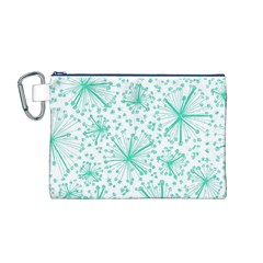 Pattern Floralgreen Canvas Cosmetic Bag (m)