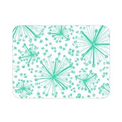 Pattern Floralgreen Double Sided Flano Blanket (mini)