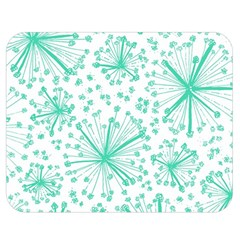 Pattern Floralgreen Double Sided Flano Blanket (Medium)