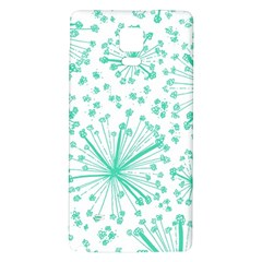 Pattern Floralgreen Galaxy Note 4 Back Case
