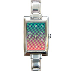 Art Patterns Rectangle Italian Charm Watch