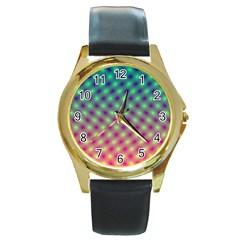 Art Patterns Round Gold Metal Watch