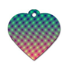 Art Patterns Dog Tag Heart (One Side)