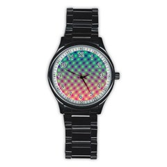 Art Patterns Stainless Steel Round Watch
