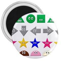 Cute Symbol 3  Magnets