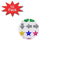 Cute Symbol 1  Mini Buttons (10 Pack)