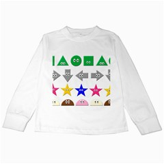 Cute Symbol Kids Long Sleeve T Shirts