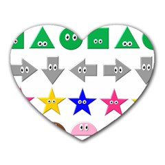 Cute Symbol Heart Mousepads