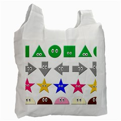 Cute Symbol Recycle Bag (one Side)