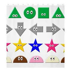 Cute Symbol Shower Curtain 66  X 72  (large)