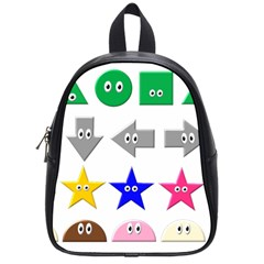 Cute Symbol School Bags (small)