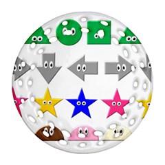 Cute Symbol Ornament (round Filigree)