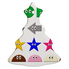 Cute Symbol Christmas Tree Ornament (Two Sides)