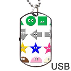Cute Symbol Dog Tag USB Flash (Two Sides)