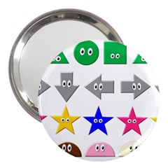 Cute Symbol 3  Handbag Mirrors