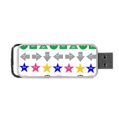 Cute Symbol Portable Usb Flash (one Side)