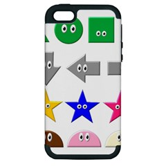 Cute Symbol Apple Iphone 5 Hardshell Case (pc+silicone)
