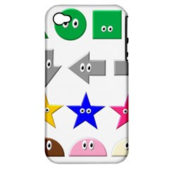 Cute Symbol Apple Iphone 4/4s Hardshell Case (pc+silicone)