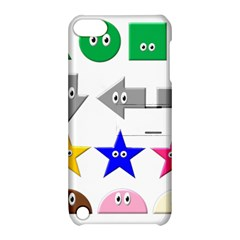 Cute Symbol Apple Ipod Touch 5 Hardshell Case With Stand