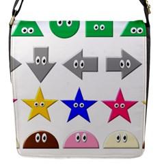 Cute Symbol Flap Messenger Bag (s)
