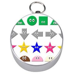 Cute Symbol Silver Compasses