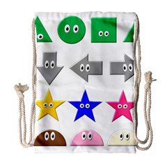 Cute Symbol Drawstring Bag (Large)